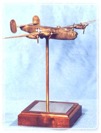 B24 Liberator Desktop Bronze Sculpture